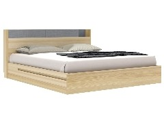 Bricko -M Bed BW6ft -Lindberg Oak / Denim