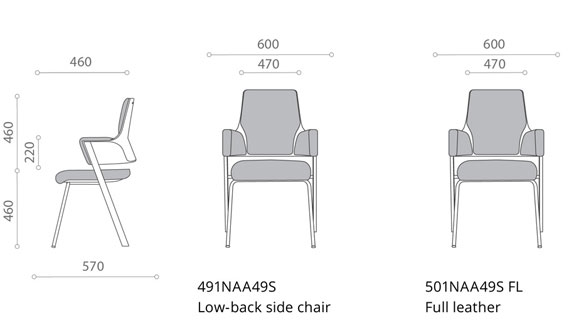 DELPHI/501NAA49S-PU/VISITOR CHAIR