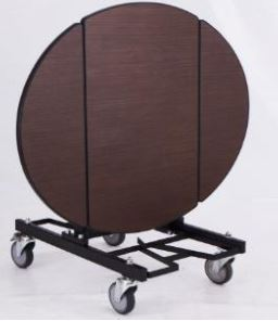 Nardi Tri Fold Oval Room Service Table Trolley